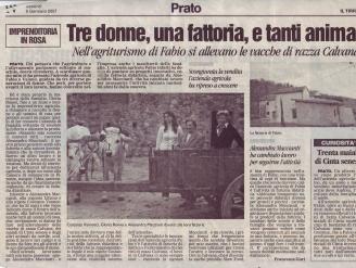 Articolo del Tirreno